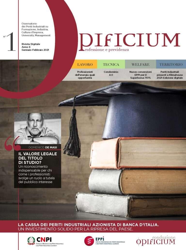 Sfoglia gratuitamente la rivista Opificium di gennaio-febbraio 2021