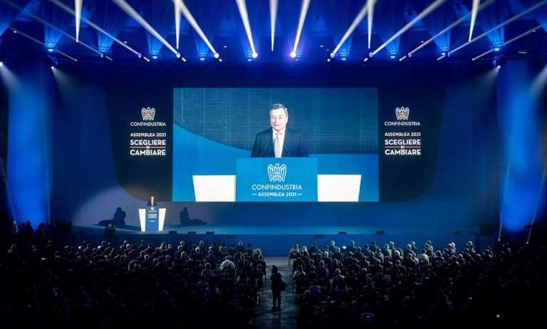 Draghi ad assemblea di Confindustria propone «patto per il paese»